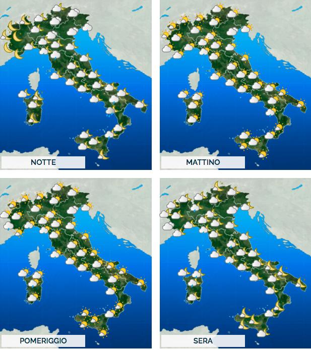 Previsioni meteo 8 febbraio