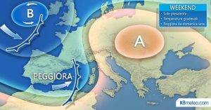 Previsioni meteo del week end