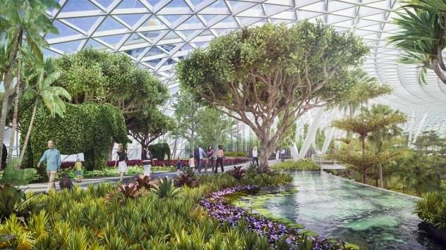 L'aeroporto denominato Giardino Magico con cascata all'interno giardini all'interno - meteoweek.com