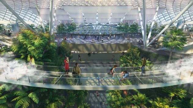 L'aeroporto denominato Giardino Magico con cascata all'interno - meteoweek.com