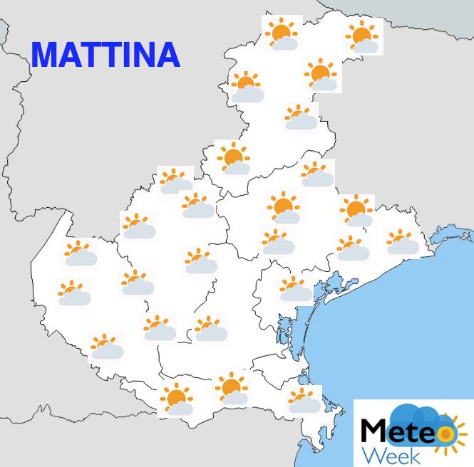 Meteo Veneto Previsioni del Tempo mercoledì 22 maggio 2019 mattina - meteoweek.com