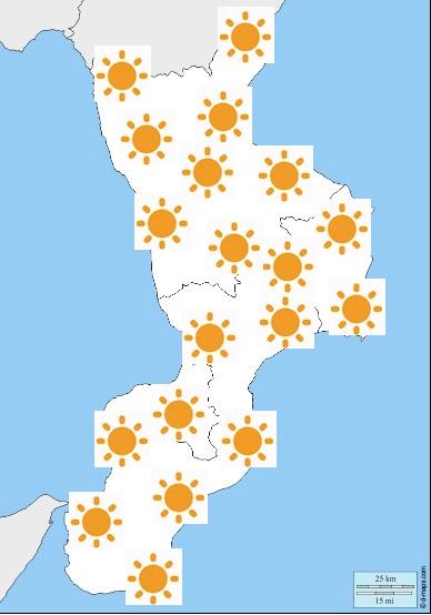 Meteo Calabria Previsioni del tempo mercoledì 22 maggio 2019 - meteoweek.com