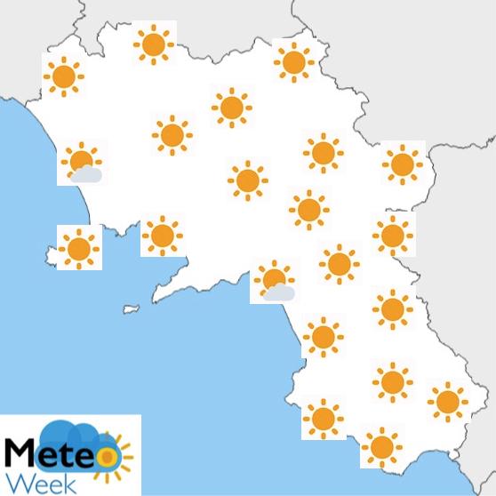 Meteo Campania Previsioni del tempo mercoledì 22 maggio 2019 - meteoweek.com