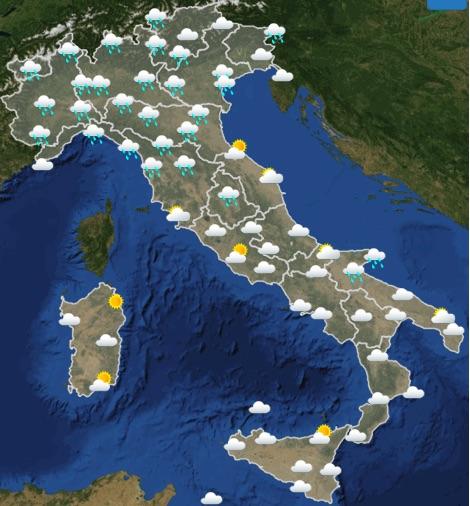 Meteo Italia domani sabato 18 maggio 2019 ore 00-06 - meteoweek.com