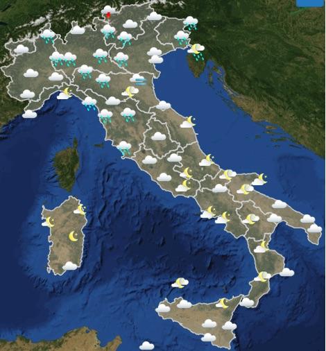 Meteo Italia domani sabato 18 maggio 2019 ore 18-24- meteoweek.com