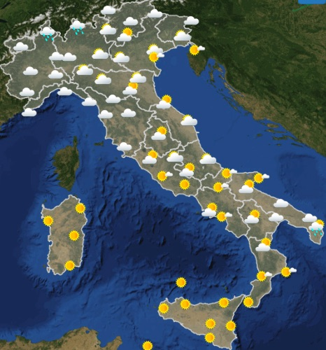 Meteo Italia domani venerdì 17 maggio 2019 ore 00-06 - meteoweek.com