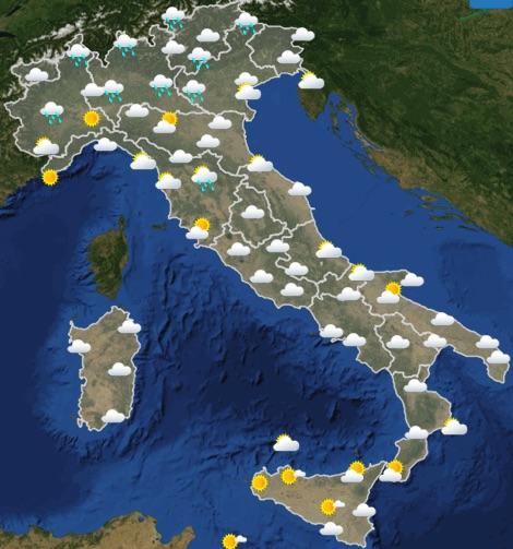 Meteo Italia domenica 19 maggio 2019 ora 00-06 - meteoweek.com