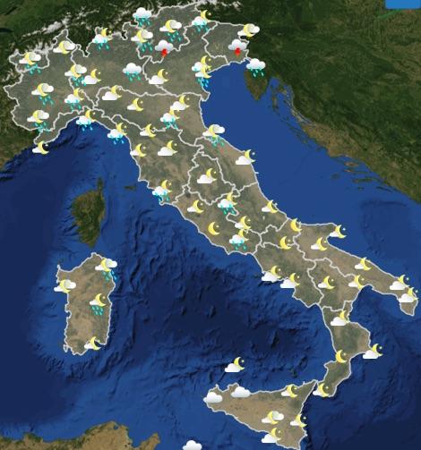 Meteo Italia domenica 19 maggio 2019 ore 12-18 - meteoweek.com