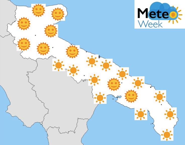 Meteo Puglia Previsioni del tempo mercoledì 22 maggio 2019 - meteoweek.com