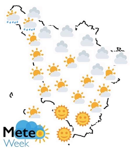 Meteo Toscana mercoledì 22 maggio 2019 - meteoweek.com