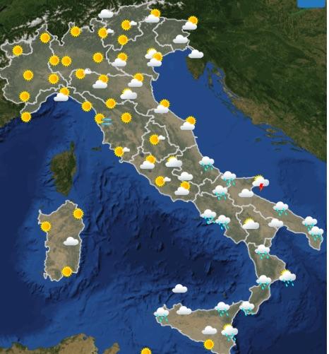 Meteo italia oggi giovedì 16 maggio 2019 00-06 - meteoweek.com copia