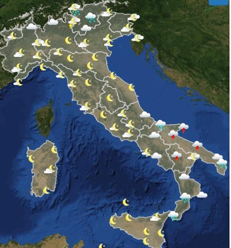 Meteo italia oggi giovedì 16 maggio 2019 12-18 - meteoweek.com