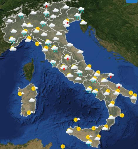 Meteo Italia domani martedì 28 maggio 2019 - meteoweek.com