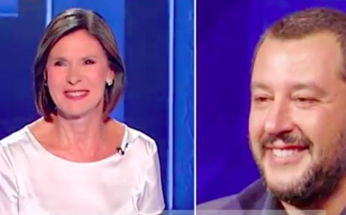 Matteo Salvini da Bianca Berlinguer - meteoweek.com