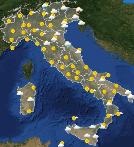 Meteo Italia previsioni del tempo di domani domenica 23 giugno 2019 ore 12 - meteoweek.com