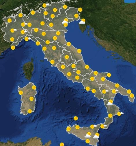 Meteo Italia previsioni del tempo di domani lunedì 24 giugno 2019 ore 12 - meteoweek.com