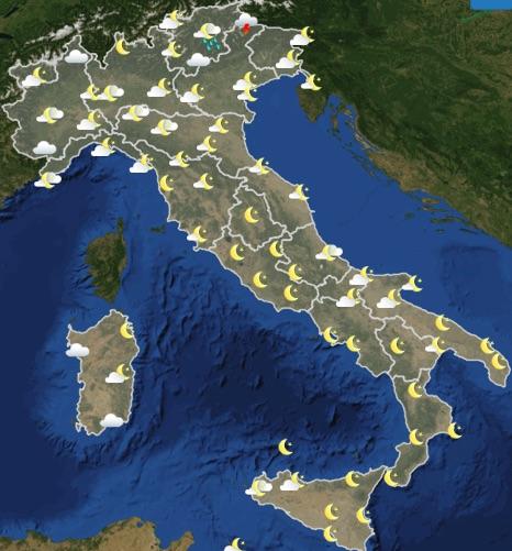Meteo Italia previsioni del tempo domani giovedì 20 giugno 2019 ore 18 - meteoweek.com