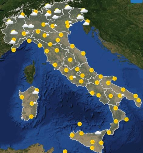 Meteo Italia previsioni del tempo domani mercoledì 19 giugno 2019 ore 06 - meteoweek.com
