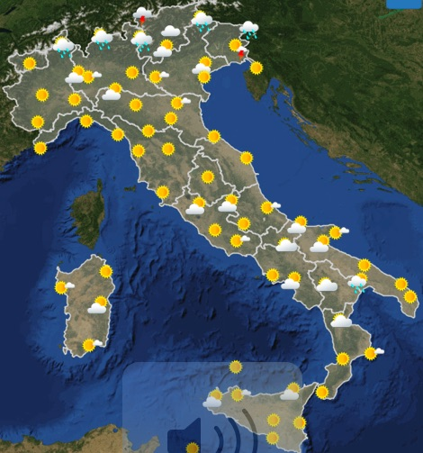 Meteo Italia previsioni del tempo domani mercoledì 19 giugno 2019 ore 12 - meteoweek.com