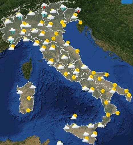 Meteo Italia previsioni del tempo domani venerdì 21 giugno 2019 ore 12 - meteoweek.com