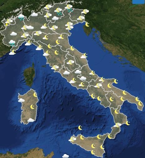 Meteo Italia previsioni del tempo domani venerdì 21 giugno 2019 ore 18 - meteoweek.com