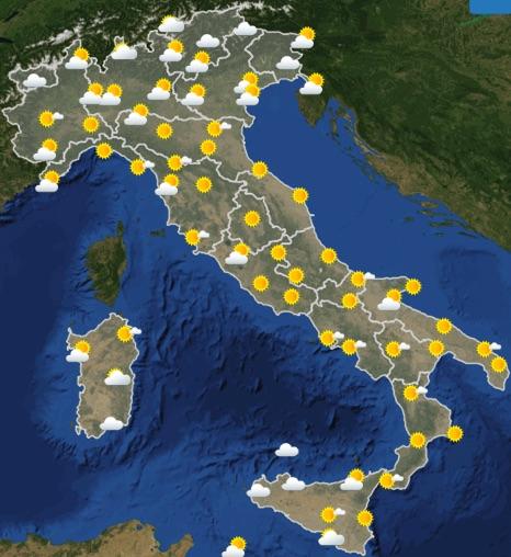 Meteo Italia previsioni del tempo domani venerdì 21 giugno 2019 ore 6 - meteoweek.com