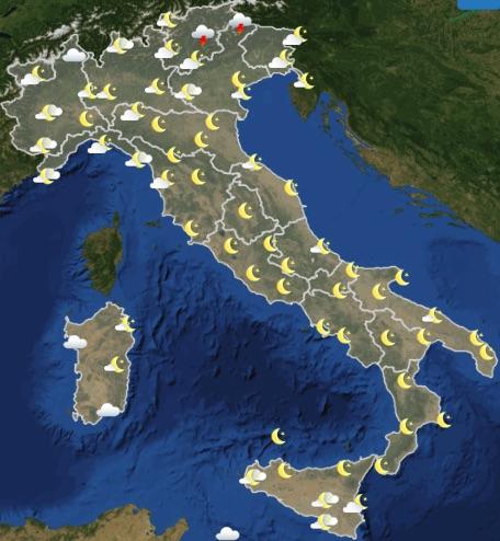 Meteo Italia previsioni del tempo oggi giovedì 20 giugno 2019 ore 18 - meteoweek.com