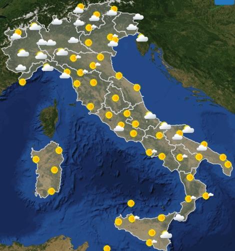 Meteo Italia previsioni del tempo oggi martedì 18 giugno 2019 ore 06- meteoweek.com