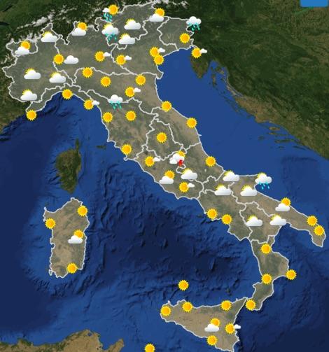 Meteo Italia previsioni del tempo oggi martedì 18 giugno 2019 ore 12 - meteoweek.com