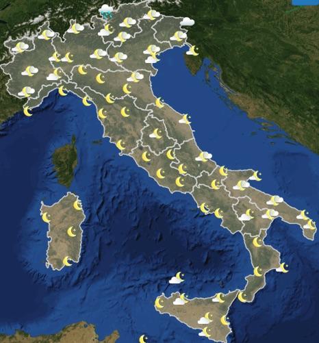 Meteo Italia previsioni del tempo oggi mercoledì 19 giugno 2019 ore 18 - meteoweek.com