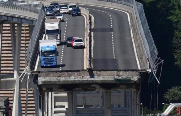 Ponte Morandi immediatamente dopo il disastro - meteoweek.com