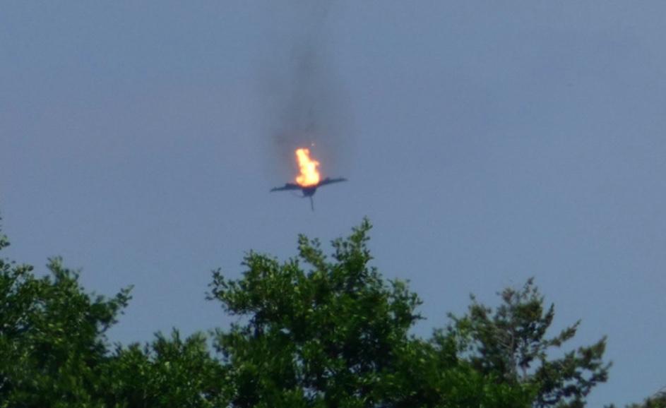 Jet Caccia tedesco Eurofighter che precipita - meteoweek.com