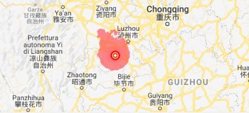 Terremoto in Cina di 6 di magnitudo - meteoweek.com