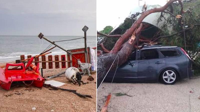 Costa Adriatica una tempesta furiosa sta mettendo in ginocchio le città - meteoweek.com