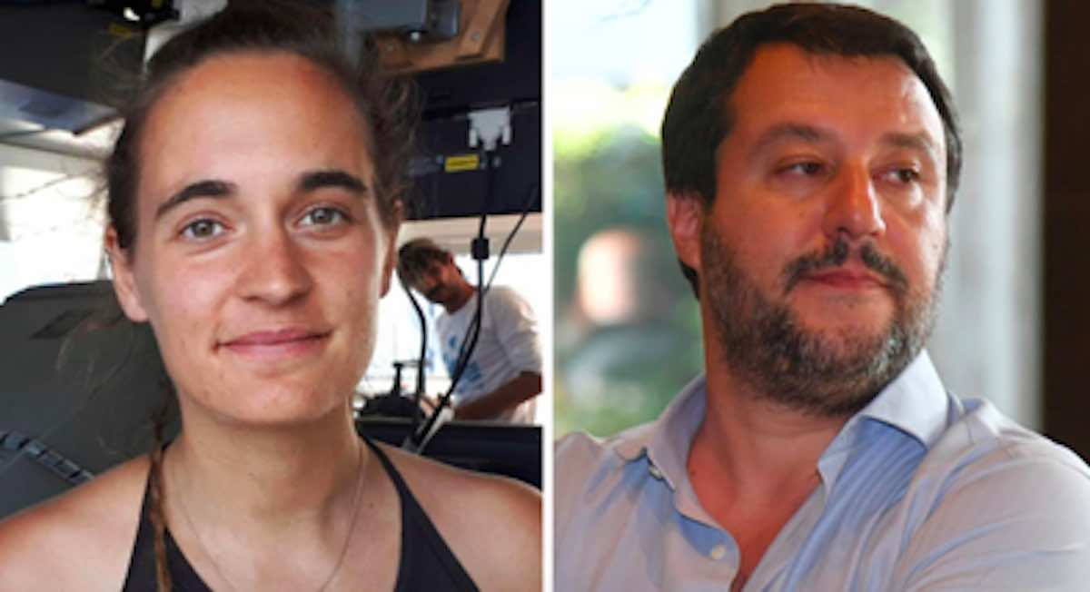Carola Rackete e Matteo Salvini  - meteoweek.com