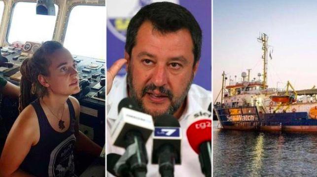 Comandante Carola Mackete - Matteo Salvini - Imbarcazione Sea Watch 3 - meteoweek.com