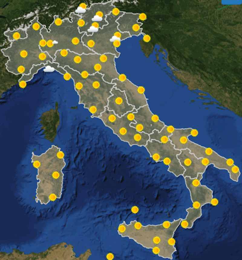 Meteo Italia previsioni del tempo di domani sabato 6 luglio 2019 ore 6 - meteoweek.com