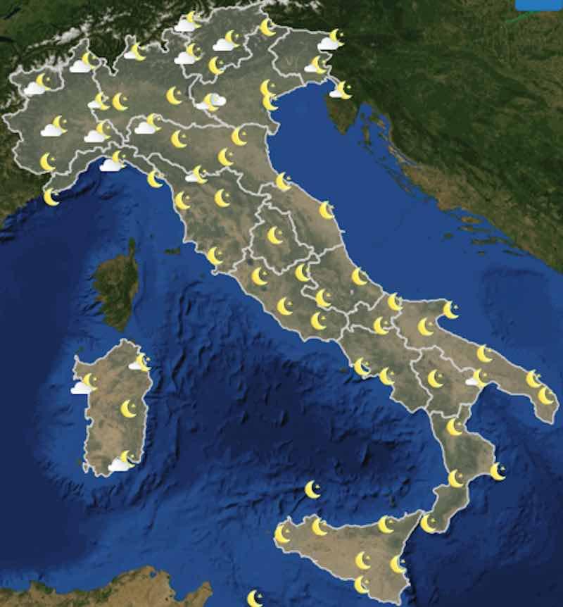 Meteo Italia previsioni del tempo di domani sabato 6 luglio 2019 ore 18 - meteoweek.com