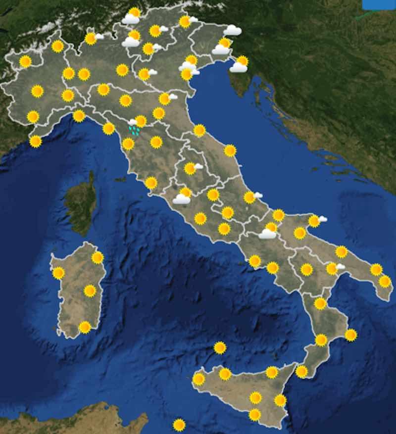 Meteo Italia previsioni del tempo oggi venerdì 5 luglio 2019 ore 12 - meteoweek.com