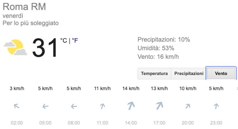 Meteo Roma previsioni del tempo di domani venerdì 12 luglio 2019 - meteoweek.com