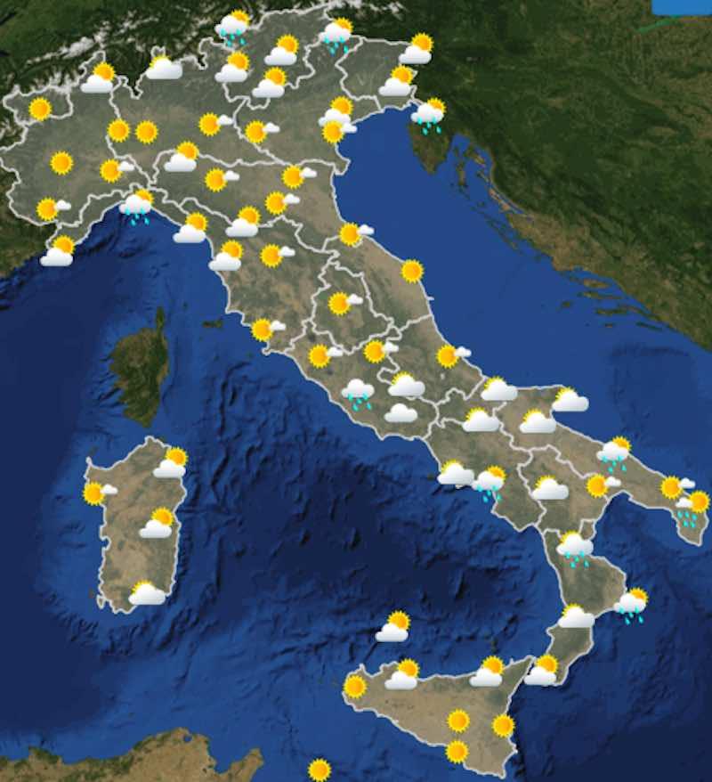 Meteo Weekend domenica ore 14 - Previsioni del tempo per Sabato e Domenica - meteoweek.com