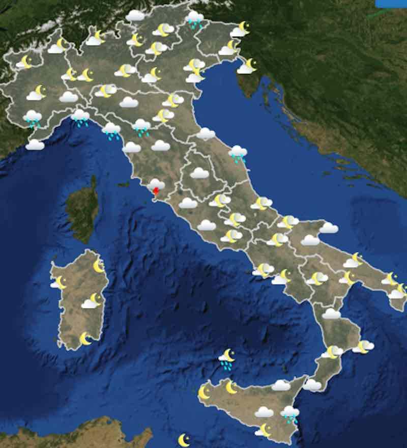 Meteo domani previsioni del tempo di lunedì 15 luglio 2019 in Italia ore 18 - meteoweek.com