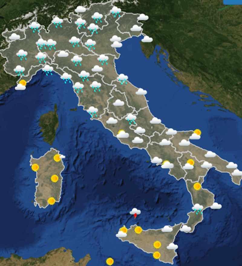 Meteo domani previsioni del tempo di lunedì 15 luglio 2019 in Italia ore 6 - meteoweek.com