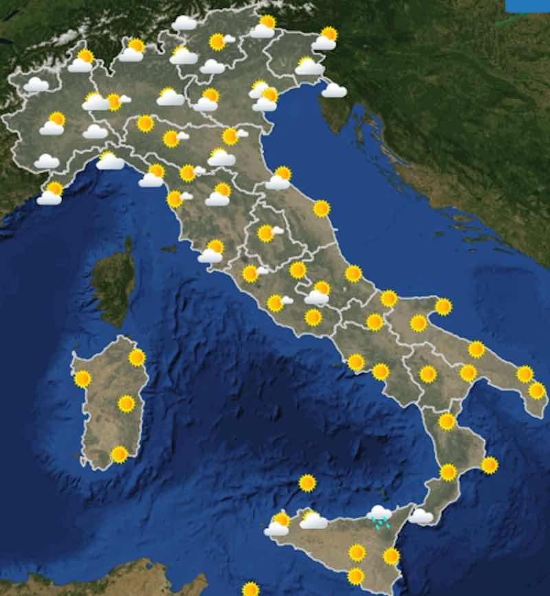 Meteo domani previsioni del tempo giovedì 11 luglio ore 6 - meteoweek.com