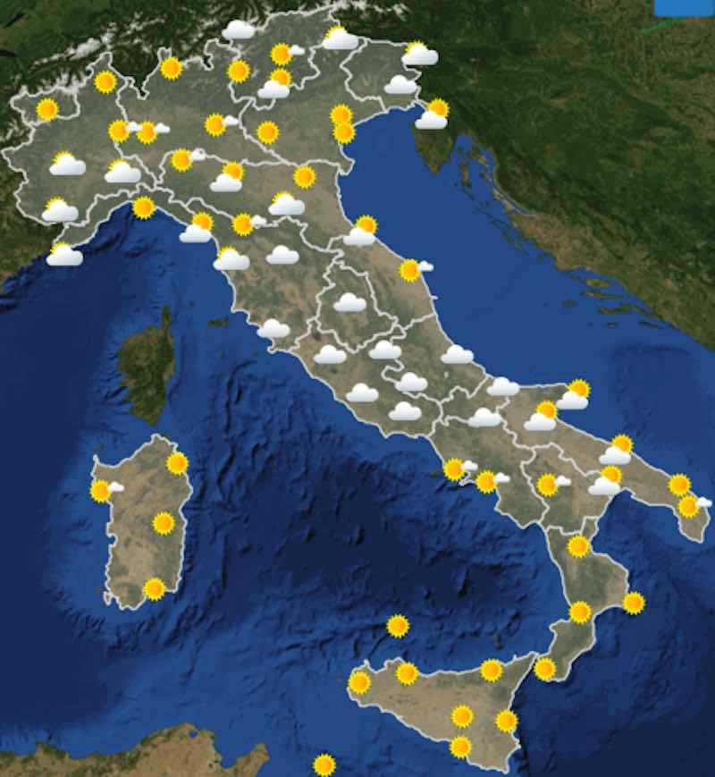Meteo domani previsioni del tempo venerdì 12 luglio in Italia - meteoweek.com