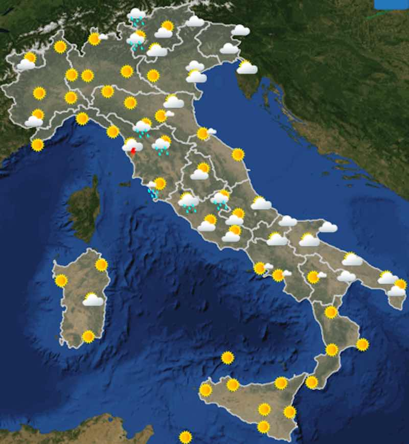 Meteo domani previsioni del tempo venerdì 12 luglio in Italia ore 12 - meteoweek.com