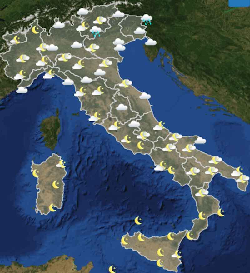 Meteo oggi previsioni del tempo di giovedì 11 luglio in Italia ore 18 - meteoweek.com