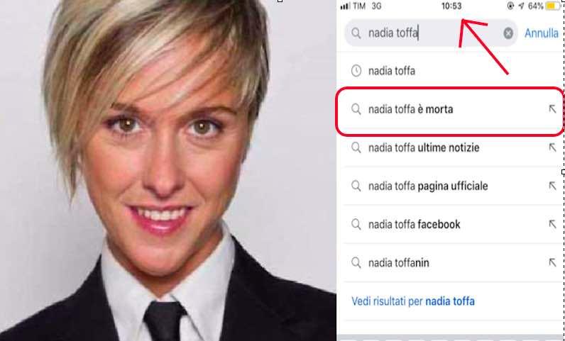 Nadia Toffa google - meteoweek.com
