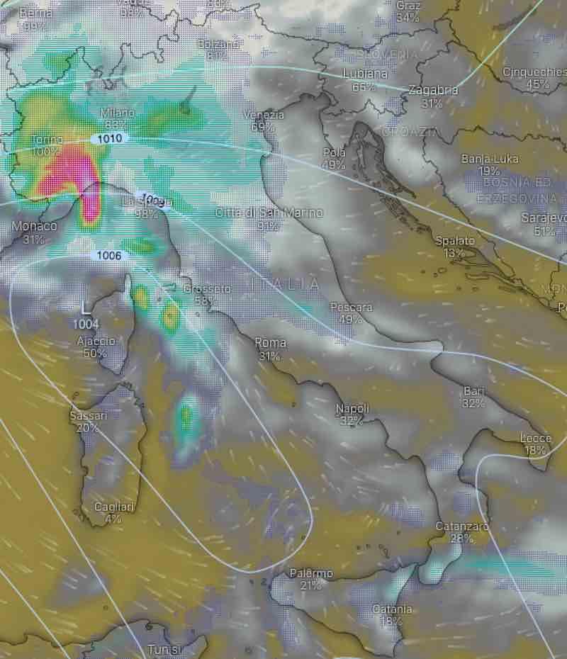 Previsioni meteo lunedì domani 15 luglio Italia- nuvolosità, temperature, venti e mari - meteoweek.com