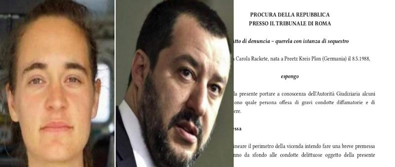 denuncia Carola Rackete Matteo Salvini - meteoweek.com
